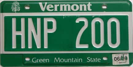 Vermont (Single) license plate for sale