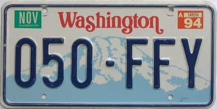 1994 Washington (Single) license plate for sale