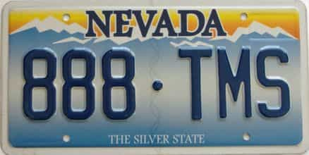 Nevada license plate for sale