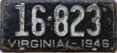 1946 Virginia license plate for sale