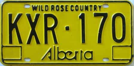 Alberta  (Single) license plate for sale