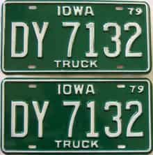 1979 Iowa  (Pair) license plate for sale