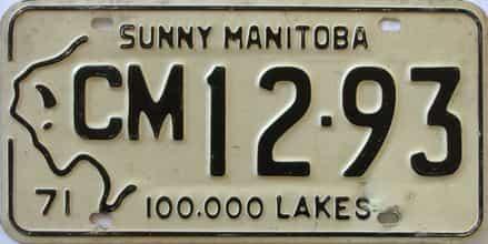 1971 Manitoba (Single) license plate for sale