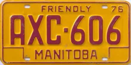 1976 Manitoba (Single) license plate for sale