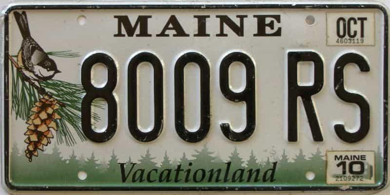 2010 Maine  (Single) license plate for sale