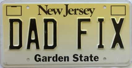 New Jersey (Vanity) license plate for sale