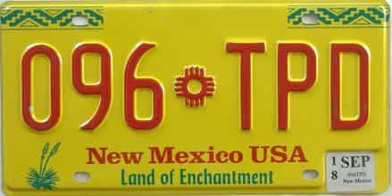 2018 New Mexico license plate for sale