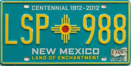 New Mexico license plate for sale
