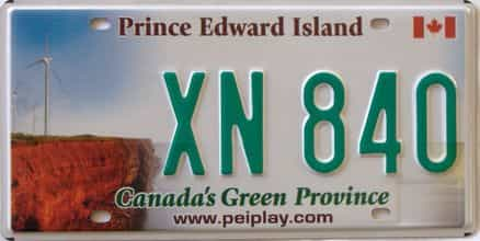 PEI (Single) license plate for sale