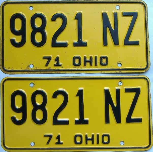 1971 Ohio  (Pair) license plate for sale