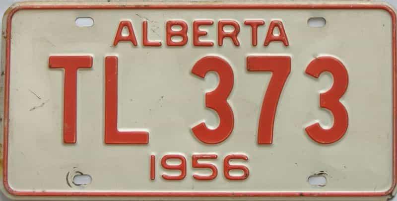 1956 Alberta  (Single) license plate for sale