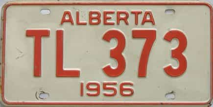 1956 Alberta  (Single) license plate for sale