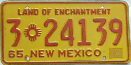 1966 New Mexico license plate for sale
