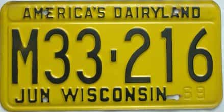 1968 Wisconsin (Single) license plate for sale