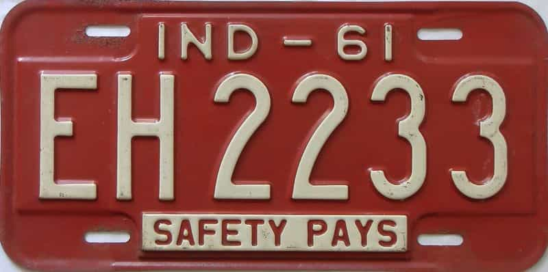 1961 Indiana license plate for sale