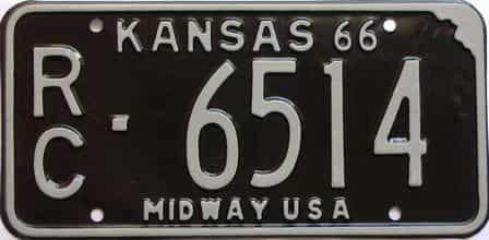1966 Kansas license plate for sale