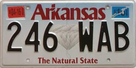 2016 Arkansas license plate for sale