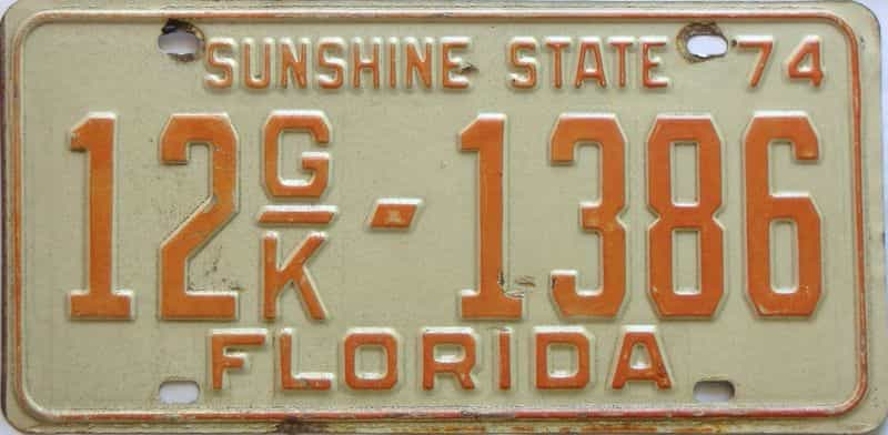 1974 Florida  (Truck) license plate for sale