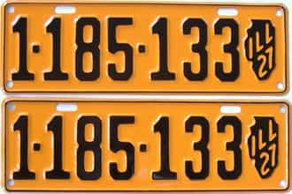 RESTORED 1927 Illinois (Pair) license plate for sale