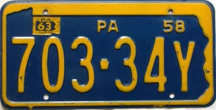 1963 Pennsylvania license plate for sale