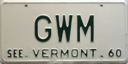 1960 Vermont  (Vanity) license plate for sale