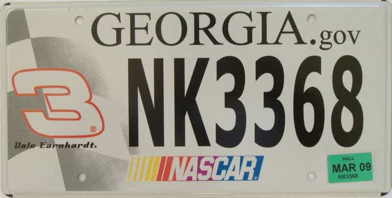 2009 GA license plate for sale