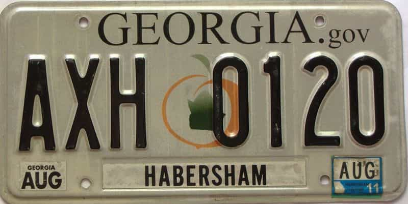 2011 Georgia Counties (Habersham) license plate for sale