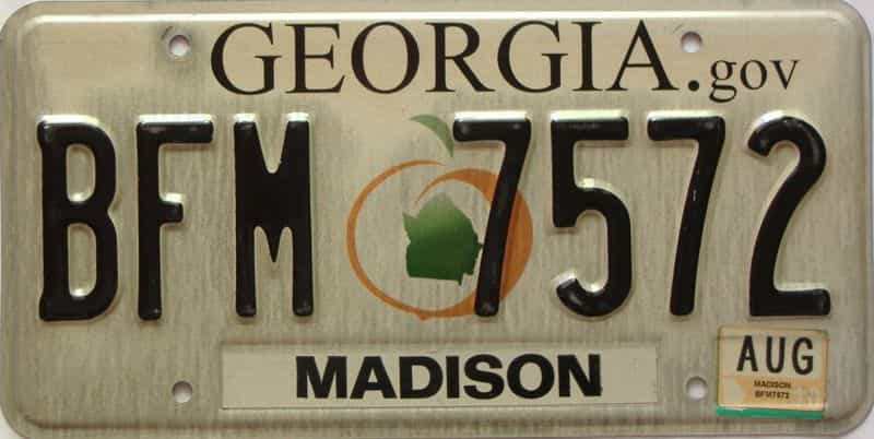 2013 Georgia Counties (Madison) license plate for sale