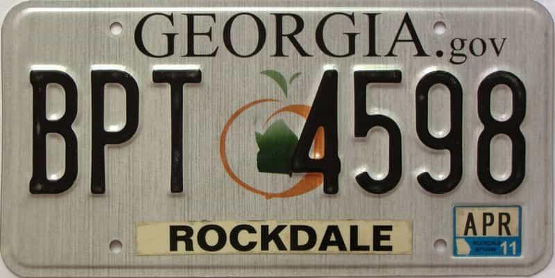 2011 Georgia Counties (Rockdale) license plate for sale