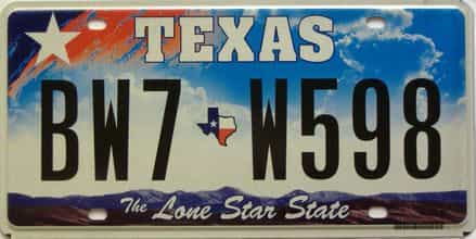 Texas  (Single) license plate for sale