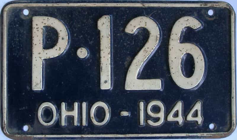 1944 Ohio (Single) license plate for sale