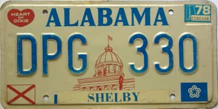 1978 Alabama license plate for sale