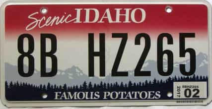 2017 Idaho  (Single) license plate for sale