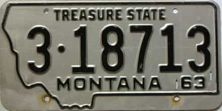 1963 Montana  (Single) license plate for sale