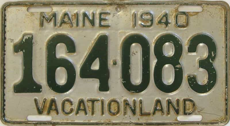 1940 ME (Single) license plate for sale