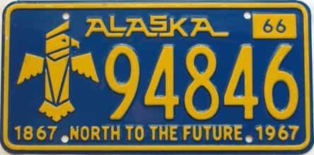 1966 Alaska (Single) license plate for sale
