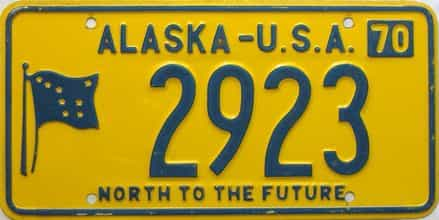 1970 Alaska license plate for sale