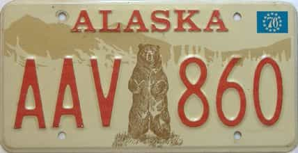 1976 Alaska  (Single) license plate for sale