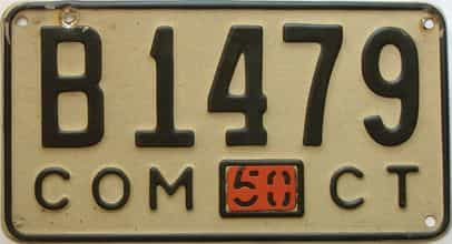 1950 Connecticut (Single) license plate for sale