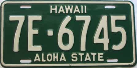 1961 Hawaii (Single) license plate for sale