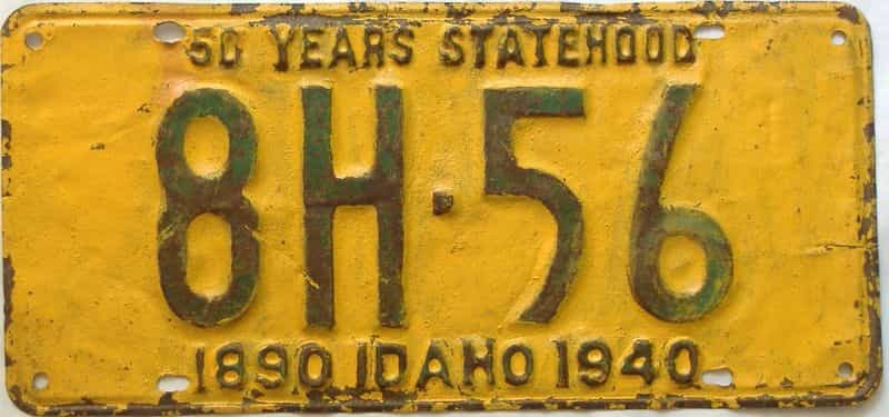 1940 Idaho  (Older Repaint) license plate for sale