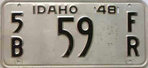 1948 Idaho  (Farm Truck) license plate for sale