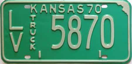 1970 Kansas  (Truck) license plate for sale