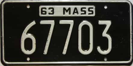 1963 Massachusetts (Single) license plate for sale