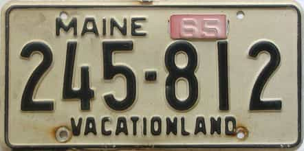 1965 Maine (Single) license plate for sale