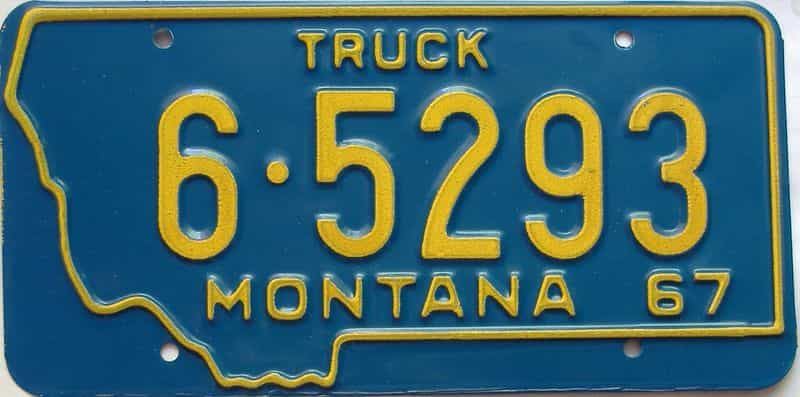 1967 Montana  (Truck) license plate for sale