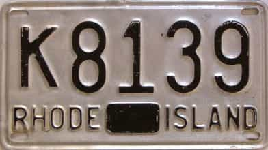 Rhode Island  (Single) license plate for sale