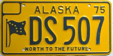 1975 Alaska  (Single) license plate for sale