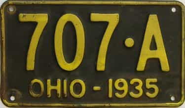 1935 Ohio  (Single) license plate for sale