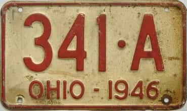 1946 Ohio license plate for sale